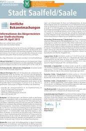 Amtsblatt Nummer 2013/05 - Saalfeld