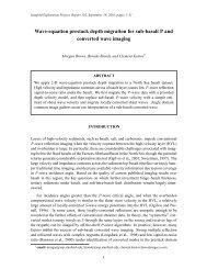 Wave-equation prestack depth  migration for sub-basalt P and ...