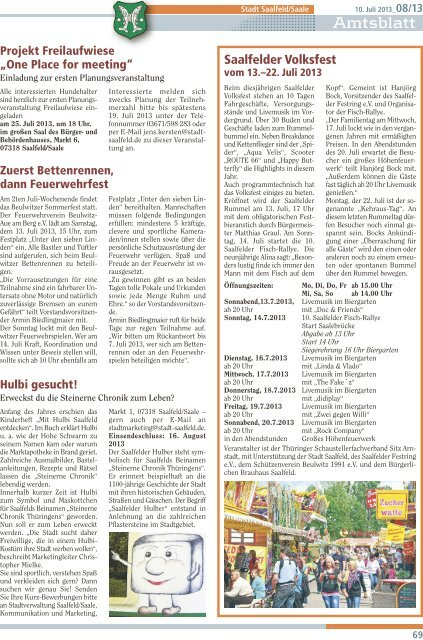 Amtsblatt - Saalfeld