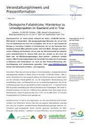Veranstaltungshinweis und Presseinformation - Urwald vor den ...