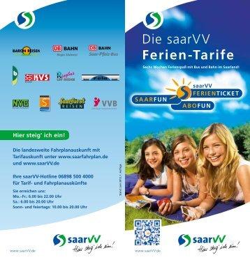 saarVV Ferientarife
