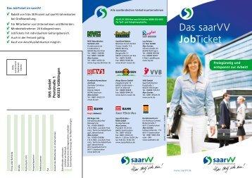 Das saarVV JobTicket - Saarbahn GmbH