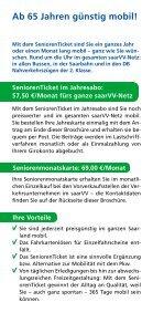 Flyer SeniorenTicket 2014 - Saarbahn GmbH - Page 2