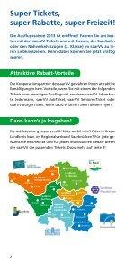 """Freizeitflyer """"Unterwegs mit dem saarVV"""" - Saarbahn GmbH - Page 2"""