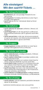 """Freizeitflyer """"Unterwegs mit dem saarVV"""" - Saarbahn GmbH - Page 3"""