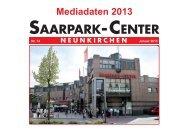 Mediadaten Saarpark Center 2013 - Saarbrücker Zeitung