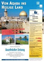 VON AQABA INS HEILIGE LAND - Saarbrücker Zeitung