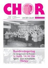 """Chor an der Saar"" 1/2003 - Saarländischer Chorverband"
