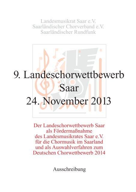 Ausschreibung - Saarländischer Chorverband