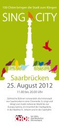 SING CITY - Saarländischer Chorverband