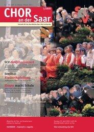 Chor an der Saar 1/2009 - Saarländischer Chorverband