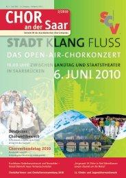 CHORVERbANDSTAG 2010 - Saarländischer Chorverband
