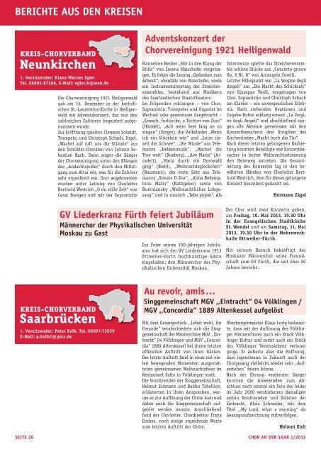 SING CITY SAARLOuIS - Saarländischer Chorverband