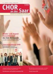 Chor an der Saar 2/2008 - Saarländischer Chorverband