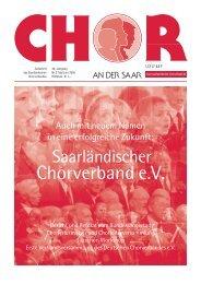 """Chor an der Saar"" 3/2005 - Saarländischer Chorverband"