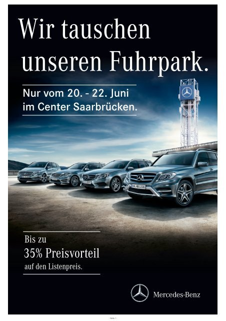 35% Preisvorteil - Mercedes-Benz Niederlassung Saarland