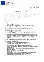 Öffentliche Bekanntmachung - Saarlouis