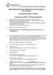 Ausschreibungs-Nr. 23/2013 Lieferung von EDV ... - Saarlouis