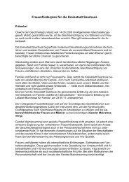 8. Frauenförderplan für die Kreisstadt Saarlouis vom 01.01.2013