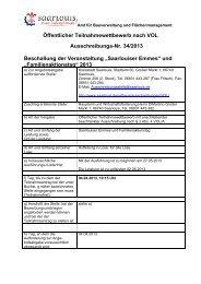 Öffentlicher Teilnahmewettbewerb nach VOL ... - Saarlouis