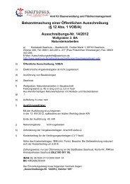 Ausschreibungs-Nr. 14/2012 - Saarlouis