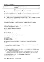 Bekanntmachung Ausschreibung - Saarlouis