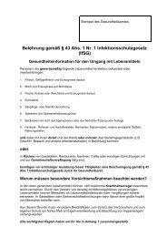 Gesundheitsinformation für den Umgang mit ... - Saarpfalz-Kreis