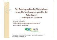 Demographischer Wandel - Saarpfalz-Kreis