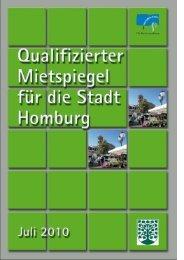 Formblatt zur Berechnung der Vergleichsmiete - Homburg.de