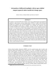 Attenuation of diffracted multiples with an apex-shifted tangent ...