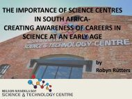 the importance of science centres in south africa creating - Saastec