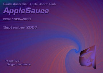 AppleSauce, September 2007 - South Australian Apple Users' Club