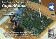 AppleSauce, December 2010 - South Australian Apple Users' Club