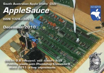 AppleSauce, December 2010 - South Australian Apple Users' Club