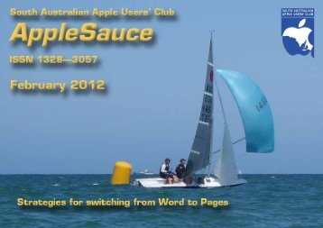 AppleSauce, February 2012 - South Australian Apple Users' Club