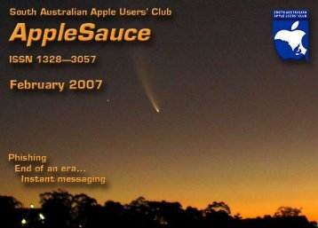 AppleSauce February 2007 - South Australian Apple Users' Club
