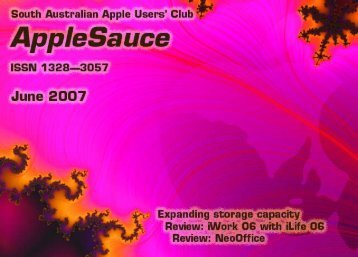 AppleSauce June 2007 - South Australian Apple Users' Club