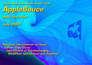 AppleSauce, July 2007 - South Australian Apple Users' Club