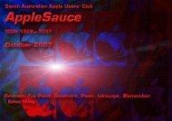AppleSauce, October 2007 - South Australian Apple Users' Club
