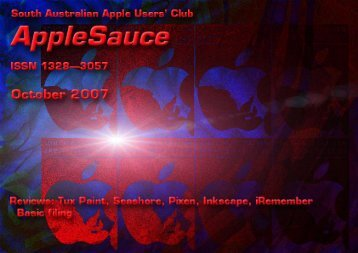AppleSauce, October 2007 - South Australian Apple Users' Club