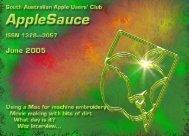 AppleSauce June 2005 - South Australian Apple Users' Club