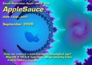 AppleSauce, September 2009 - South Australian Apple Users' Club