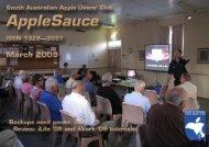 AppleSauce, March 2009 - South Australian Apple Users' Club