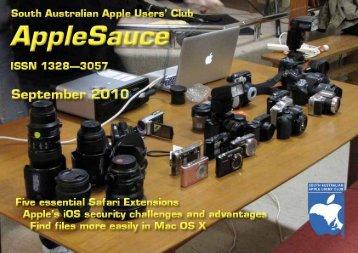 AppleSauce, September 2010 - South Australian Apple Users' Club