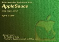 AppleSauce April 2005 - South Australian Apple Users' Club
