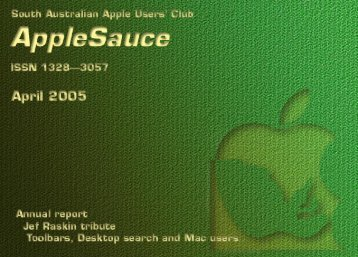 AppleSauce April 2005 - South Australian Apple Users' Club