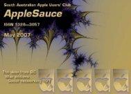 AppleSauce May 2007 - South Australian Apple Users' Club