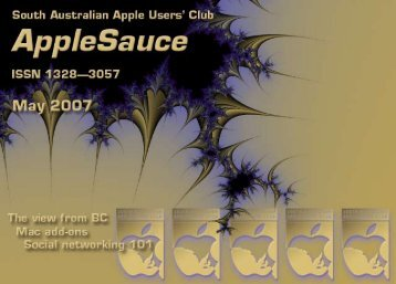 AppleSauce May 2007 - South Australian Apple Users' Club