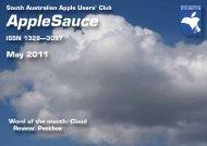 AppleSauce, May 2011 - South Australian Apple Users' Club