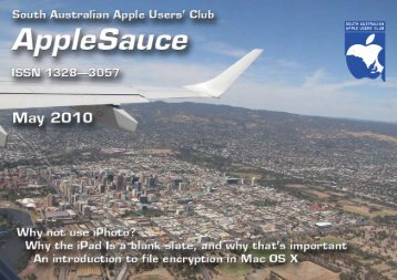 AppleSauce, May 2010 - South Australian Apple Users' Club